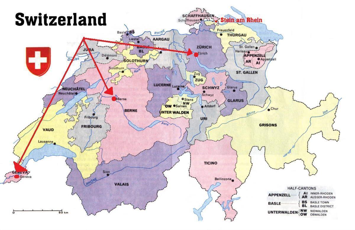 Genf Svajc Terkep Genf Svajc Terkep Europa Nyugat Europaban